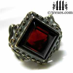 brass-raven-love-wedding-ring-gothic-garnet-stone-january-birthstone