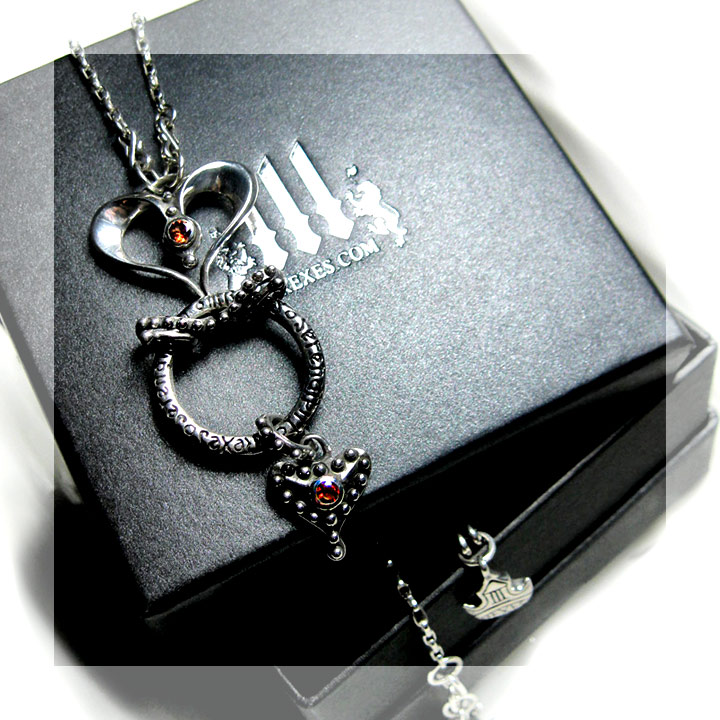 silver heart necklace gift for her