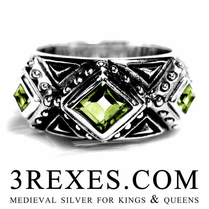 mens kings ring medieval wedding band made with gothic 925 sterling silver