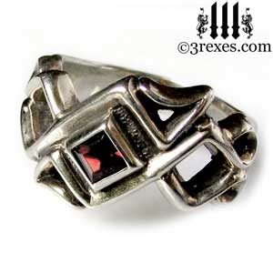 mens-bohemian-gothic-z-ring-garnet-celtic-silver-band