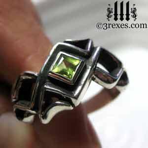 mens-bohemian-silver-ring-celtic-knot-band-peridot-medieval-stone-300.jpg