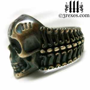 pirate-skull-ring-black-brass-biker-band-side-view-3-rexes-jewelry