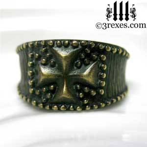 mens-studded-iron-cross-ring-knights-templar-band-dark-brass-3-3-rexes-jewelry