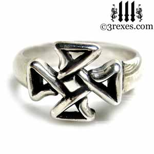 mini-celtic-cross-silver-ring-friendship-jewelry-front-3-rexes-jewelry