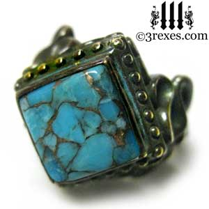 raven-love-ring-brass-blue-turquoise-cocktail-gothic-band