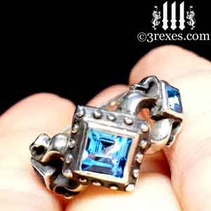 royal-princess-silver-engagement-ring-medieval-blue-topaz-stone-december-birthstone-jewelry