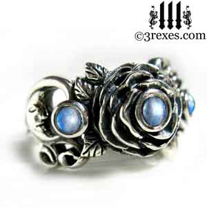 silver-rose-moon-spider-ring-gothic-blue-moonstone-wedding-engagement-band.jpg