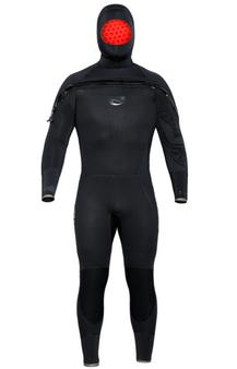 Bare 8/7mm Velocity Ultra Semi-Dry Hooded Full Wetsuit - Mens