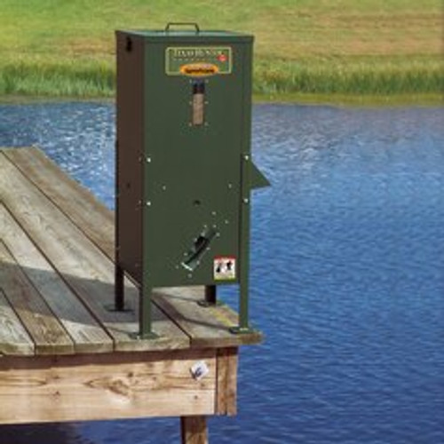 Texas Hunter Fish Feeder 70 lb capacity- includes solar charger View Product Image