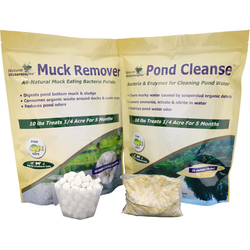 Natural Pond Cleaner Pack- 1/2 acre Farm Pond Treatment  View Product Image