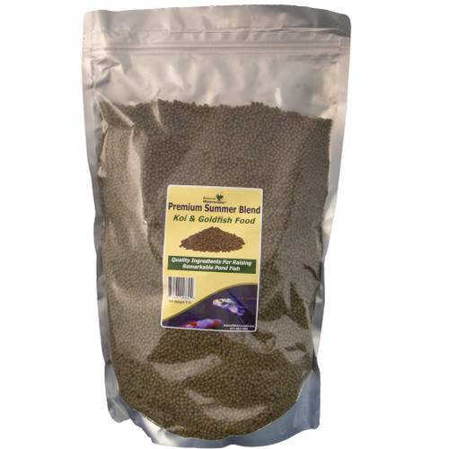 Koi Food Floating Pellets | Premium Summer Blend Pond Fish Food | Staple Feed for Koi and Goldfish | 5 lb Resealable Bag View Product Image