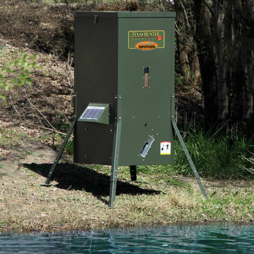 Texas Hunter Fish Feeder 250 lb capacity- includes solar charger View Product Image
