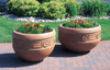 Decorative Round Outdoor Concrete Planter TF4220 Outdoors