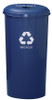 Metal 20 Gallon Can or Paper Collector Recycling Bin Blue Cans Only