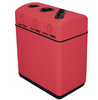 33 Gallon Fiberglass Three Opening Recycling Bin