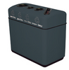 44 Gallon Fiberglass Four Opening Recycling Bin
