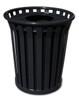 Witt 24 Gallon WC2400-FT-BK Outdoor Waste Receptacle Black