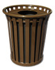 Witt 24 Gallon WC2400-FT-BN Outdoor Waste Receptacle Brown