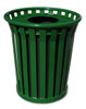 Witt 24 Gallon WC2400-FT-GN Outdoor Waste Receptacle Green