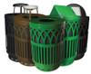 40 Gallon Covington Metal City Trash Can COV40P-FT (5 Colors, 5 Lid Styles)