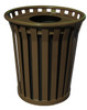 Witt 36 Gallon WC3600-FT-BN Outdoor Waste Receptacle Brown