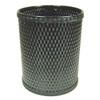 Chelsea Wicker Round Wastebasket Black