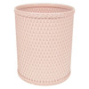 Chelsea Wicker Round Wastebasket Tea Rose