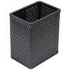 Chelsea Wicker Rectangular Wastebasket Black