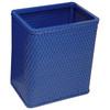 Chelsea Wicker Rectangular Wastebasket Coastal Blue