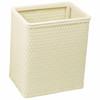 Chelsea Wicker Rectangular Wastebasket Cream