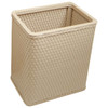 Wicker Rectangular Wastebasket Mocha