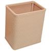 Chelsea Wicker Rectangular Wastebasket Tea Rose