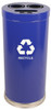24 Gallon Metal Multi Recycling Container 1 or 3 Openings Blue