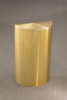 14 Gallon Half Round Trash Can with Hinged Lid Satin Brass