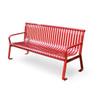 6 Foot Steel Flat Metal Public Park Bench MF2200