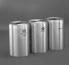 Connectable Metal Recycling Trash Can Combo 41 Gallons Each Satin Aluminum