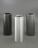 Bathroom Trash Cans (4 Sizes, 30 Colors) (Satin Black, Satin Aluminum, Silver Vein Shown)