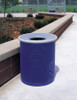 30 Gallon Steel Outdoor Funnel Lid Waste Receptacle MF3001 Blue