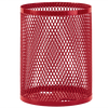 32 Gallon Ultra Site Metal Mesh Street Park Trash Can Red
