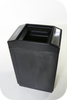 39 Gallon Forte Open Top Outdoor Ash and Trash Can 8002044 Black