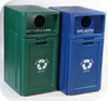 42 Gallon Forte Enclosed Dome Top Recycle Bin with Drawer Group