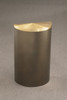 16 Gallon Value Half Round Trash Can with Hinged Lid Bronze Vein with Satin Brass Lid