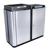 70 Gallon Echelon Collection Indoor Two Stream Recycling Receptacle