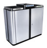 75 Gallon Echelon Indoor Three Stream Recycling Receptacle ECH3