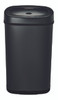 13 Gallon Touchless Automatic Black Kitchen Trash Can DZT-50-9BK Front View