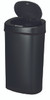 13 Gallon Touchless Automatic Black Kitchen Trash Can DZT-50-9BK Open
