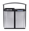 70 Gallon Echelon Outdoor Two Stream Recycling Receptacle ECHX2