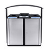 75 Gallon Echelon Outdoor Three Stream Recycling Receptacle ECHX3 (2 Multi Purpose, 1 Waste Opening)