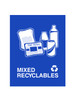 Mixed Recyclables Blue