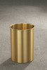 5 Gallon 10 x 15 Open Top Home Office Wastebasket Satin Brass